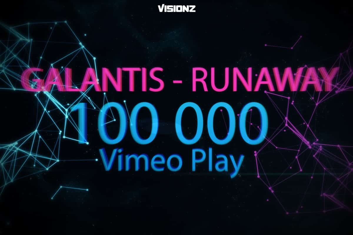 100 000 Plays on Zyper's Galantis – Runaway Vj Clip
